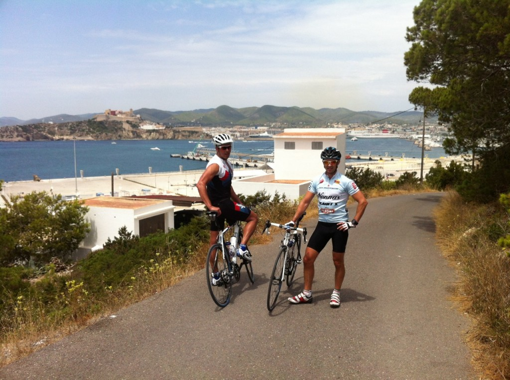 Final little uphill to give us a lookout over D'Alt Villa and the Marina