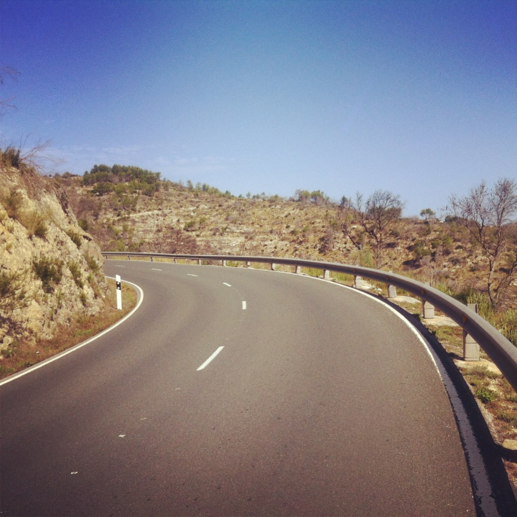 The winding climb in Sant Joan from Sant Vincent is tough but a beauty