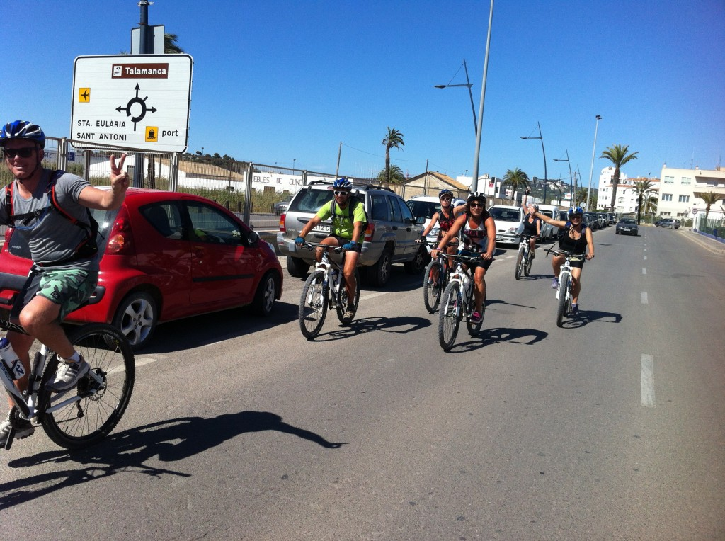 The final stretch of tarmac for the 7 adventurers, past the Marina to the finish line at Eivissa Town Port!