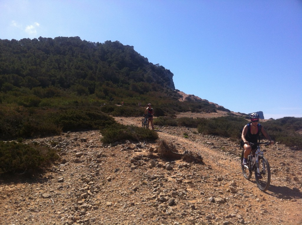 At the top of Salinas we hooked a right onto the trail that climbs then drops you down to Cap Des Falco