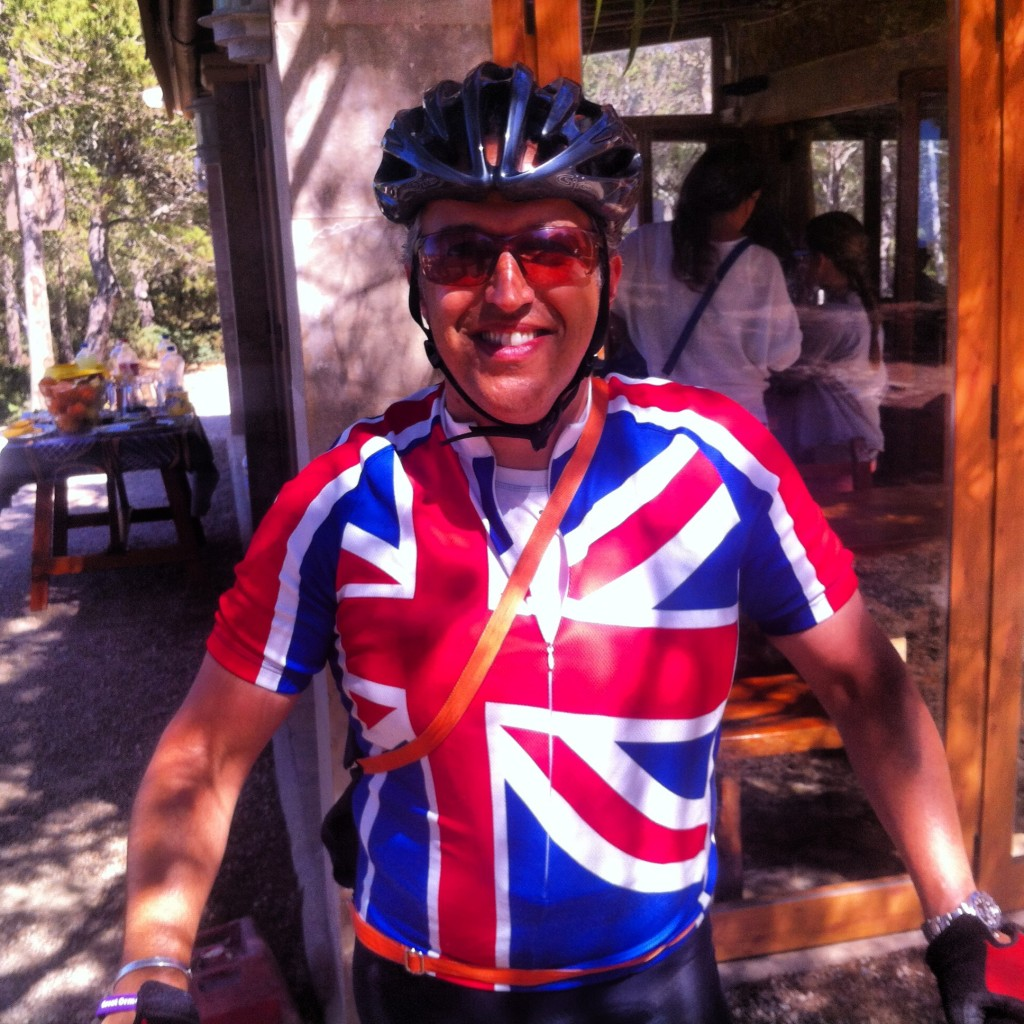 The irrepressible Ian Denson son of GB cycling legend Vin Denson was proud to be supporting such a great cause