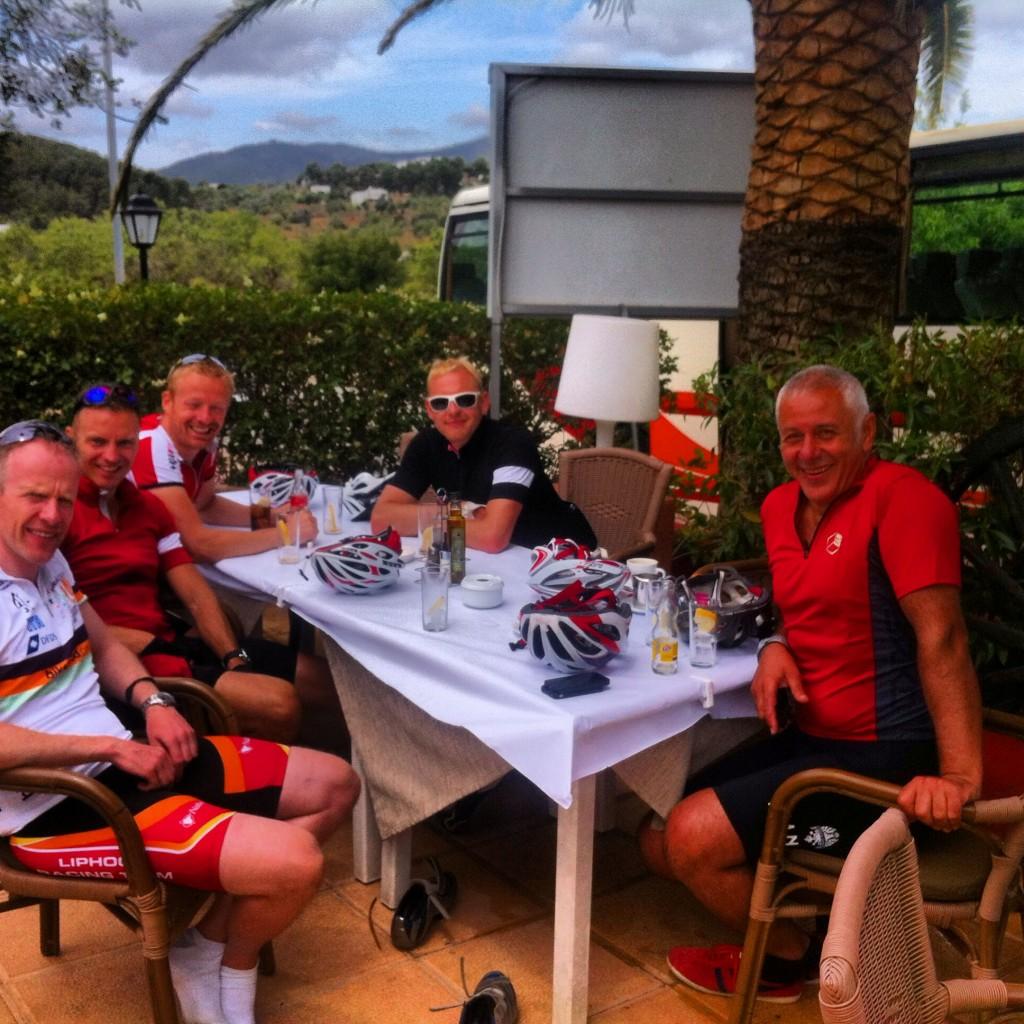 Cafe stop in San Carles