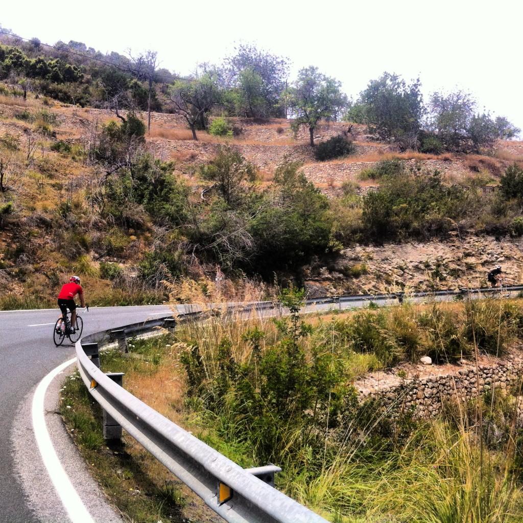 Fari climbing out of San Vicent