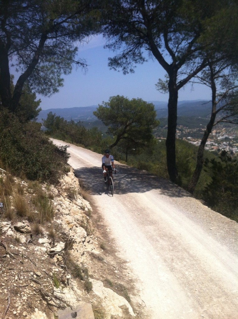 Marcel begins the descent from Sa Talaia