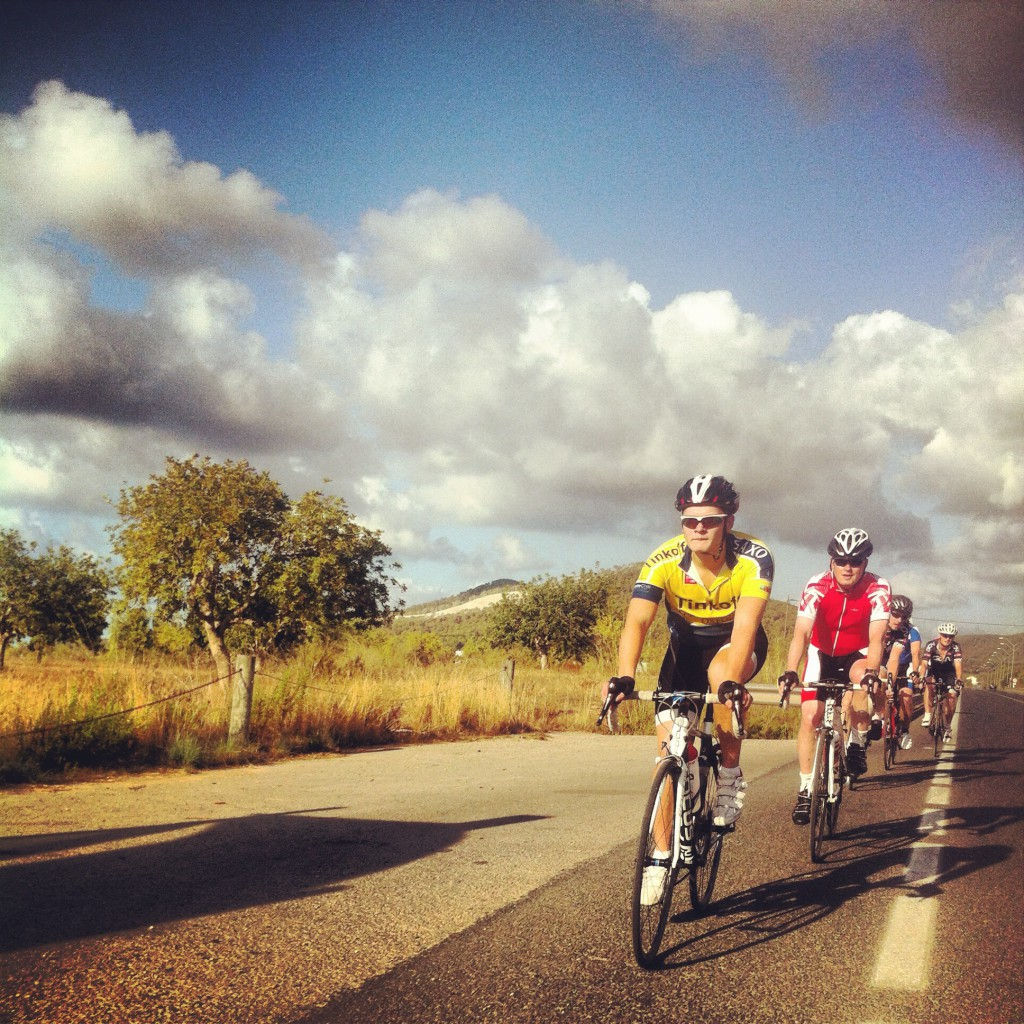Olly leads the Cobbold Salinas paceline!