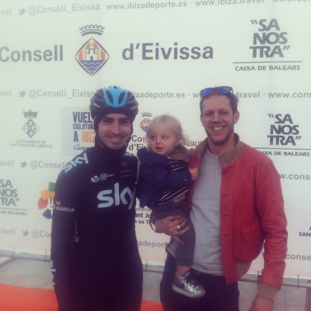 This years special guest rider was the lovely David Lopez from Team Sky. Here he is with team VCI!