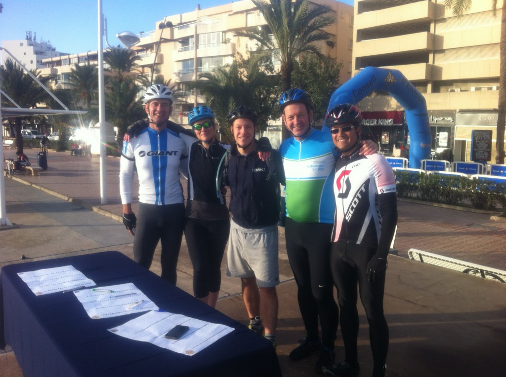 VC Ibiza provided the bikes for Team Project trusts Charity Ride on Day 3 of the Vuelta! Here are the team at the sign in