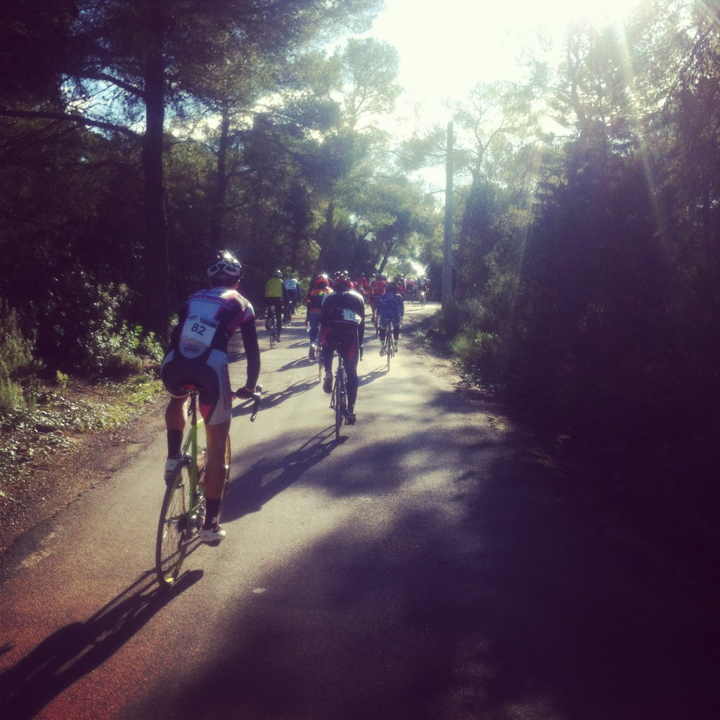 Day 3 - Riders climb out of Cala Mestalla on the east coast