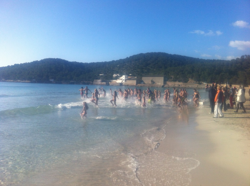 January 1st sea swim Salines