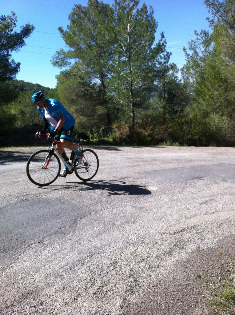 Noel has completed 4200 metres of climbing in a week not bad at all for a 70 yrd old!